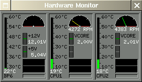 Hardware monitor screen shot